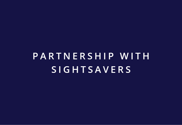 Partnership with Sightsavers