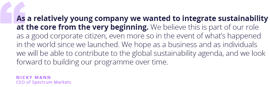 Quote from CEO of Spectrum on sustainability